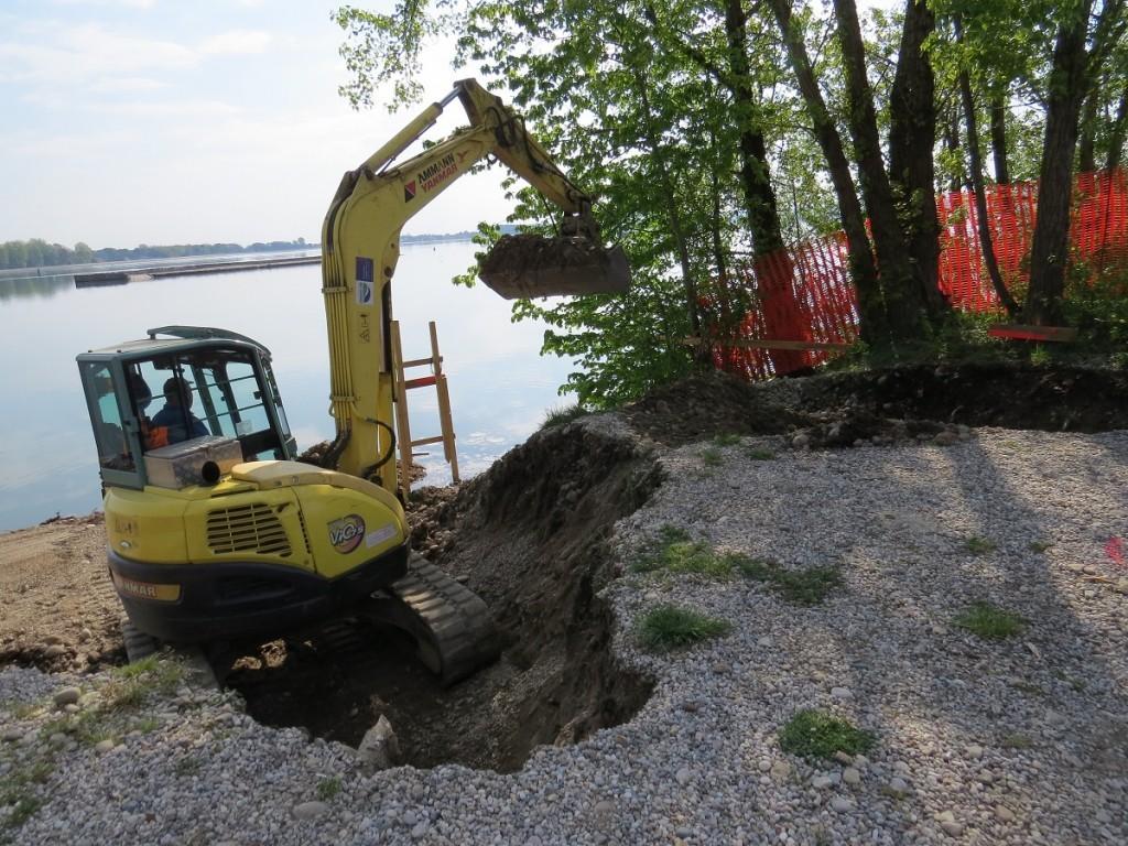 Gradnja opazovalnice na Ptujskem jezeru se je pričela.